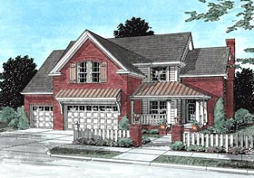 House Plan 68512 | Traditional Style Plan with 2241 Sq Ft, 4 Bedrooms, 3 Bathrooms, 3 Car Garage Elevation