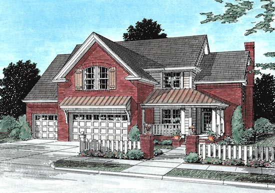 Traditional House Plan 68512 Elevation