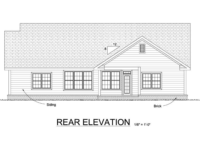 Traditional House Plan 68514 Rear Elevation