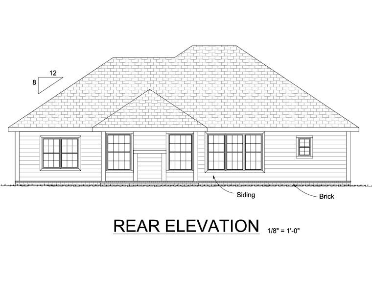 Traditional House Plan 68515 Rear Elevation