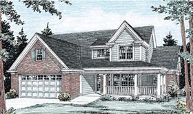 Traditional House Plan 68516 with 3 Beds, 3 Baths, 2 Car Garage Elevation