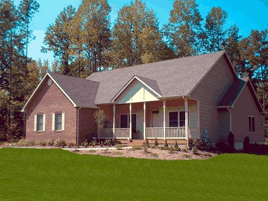 Traditional House Plan 68518 Elevation