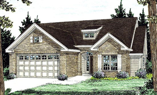 Traditional House Plan 68519 with 3 Beds, 2 Baths, 2 Car Garage Front Elevation