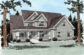 Country Traditional House Plan 68520 Elevation