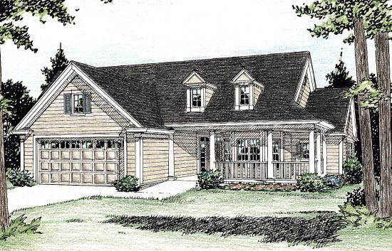 Country House Plan 68521 Elevation