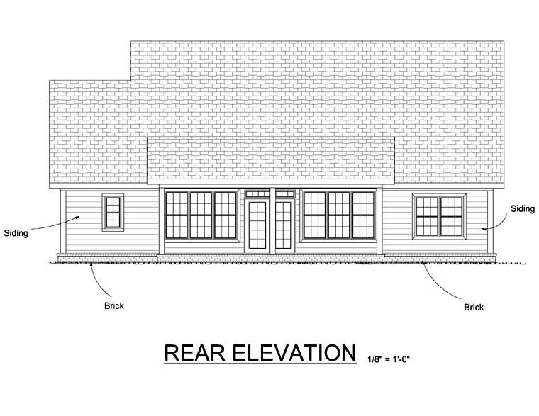 Country House Plan 68521 Rear Elevation