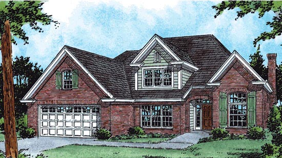 Traditional House Plan 68522 Elevation