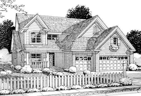 Traditional House Plan 68523 Elevation