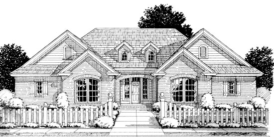 European Traditional House Plan 68524 Elevation