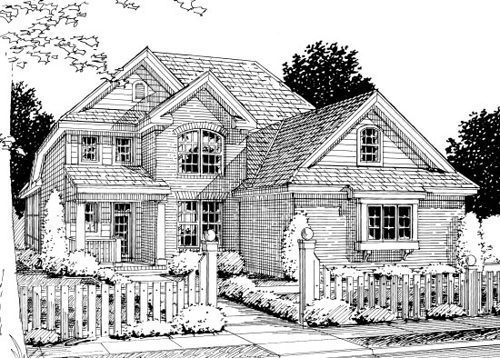 European Traditional House Plan 68526 Elevation