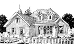 European House Plan 68527 Elevation