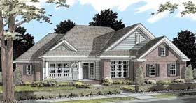 House Plan 68528 | Traditional Style Plan with 2690 Sq Ft, 3 Bedrooms, 3 Bathrooms, 3 Car Garage Elevation