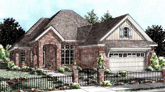European House Plan 68529 Elevation