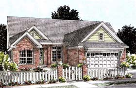Traditional House Plan 68535 with 3 Beds, 2 Baths, 2 Car Garage Elevation