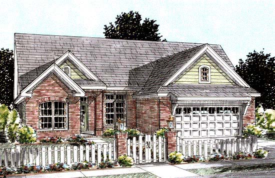 Traditional House Plan 68535 Elevation