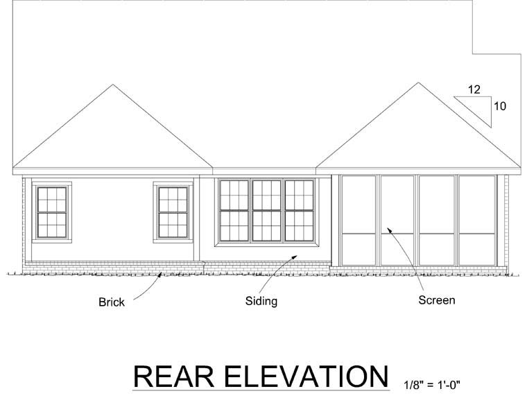 Cottage Country Traditional House Plan 68539 Rear Elevation