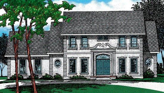 Colonial House Plan 68540 Elevation