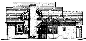 Colonial House Plan 68540 Rear Elevation