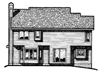 Country House Plan 68542 Rear Elevation