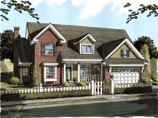 Traditional House Plan 68548 Elevation