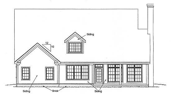 Traditional House Plan 68548 Rear Elevation