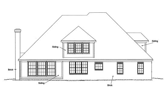 European Southern Traditional House Plan 68549 Rear Elevation
