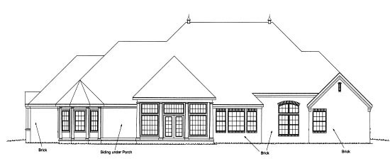 European House Plan 68550 Rear Elevation