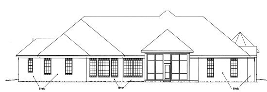 European House Plan 68551 Rear Elevation