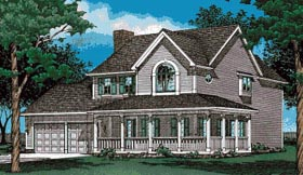 Country House Plan 68556 Elevation