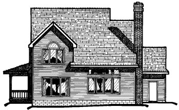 Country House Plan 68556 Rear Elevation