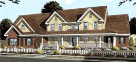 Country Farmhouse Southern House Plan 68559 Elevation