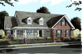 Country , Farmhouse House Plan 68560 with 5 Beds, 4 Baths, 3 Car Garage Elevation