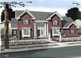 House Plan 68563 | Colonial Southern Traditional Style Plan with 2516 Sq Ft, 3 Bedrooms, 3 Bathrooms, 3 Car Garage Elevation
