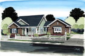 Cottage Traditional House Plan 68568 Elevation