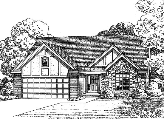 Traditional House Plan 68574 Elevation