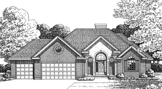 Traditional House Plan 68575 Elevation