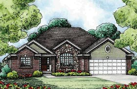Traditional House Plan 68581 Elevation