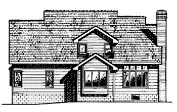 Country House Plan 68587 Rear Elevation