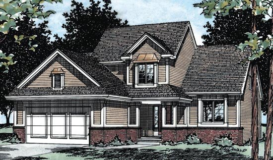Traditional House Plan 68604 Elevation