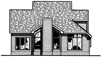 Traditional House Plan 68604 Rear Elevation