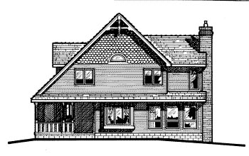 Country Craftsman House Plan 68607 Rear Elevation
