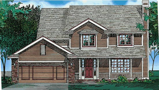 Country House Plan 68618 Elevation