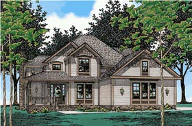 Country House Plan 68634 with 4 Beds, 3 Baths, 2 Car Garage Elevation