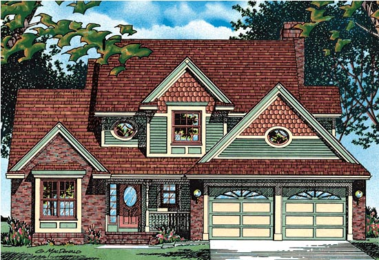 House Plan 68640 | Country Style Plan with 1992 Sq Ft, 3 Bedrooms, 3 Bathrooms, 2 Car Garage Elevation