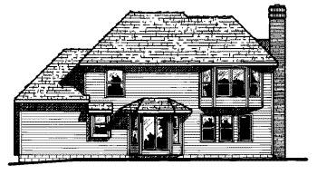 Country House Plan 68642 Rear Elevation