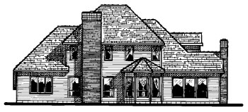 Country European House Plan 68656 Rear Elevation