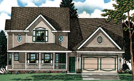 Country House Plan 68662 Elevation