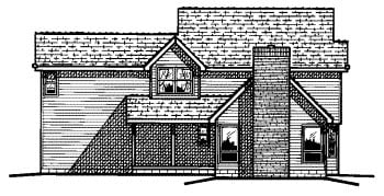 Country House Plan 68662 Rear Elevation