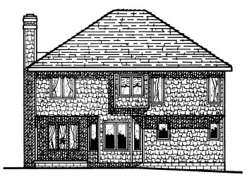 Colonial House Plan 68675 Rear Elevation