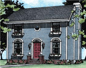 Colonial House Plan 68677 Elevation